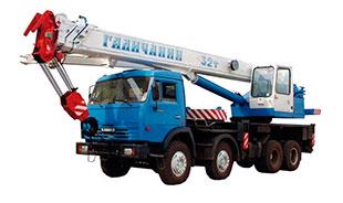 Автокран 32 тонн аренда