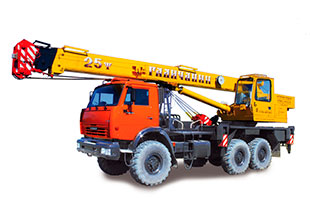 Автокран 25 тонн 28 метров вездеход