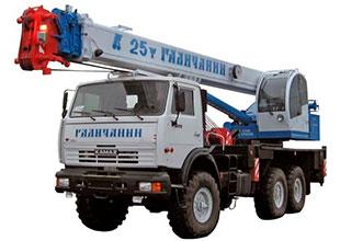 Автокран 25 тонн 31 метр вездеход